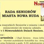 Dni Seniora – po raz pierwszy w Nowej Rudzie