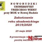 Zakończenie roku akademickiego 2019/2020 w NUTW