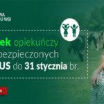Zasiłek opiekuńczy dla ubezpieczonego w KRUS przedłużony do 31 stycznia 2021 r.
