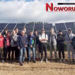 Elektrycy na placu budowy farmy fotowoltaicznej 3 MW w Przygórzu